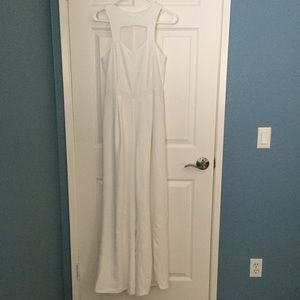 White Sleeveless Jumpsuit/Romper